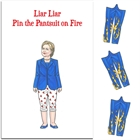 Printable Liar Liar Pin the Pantsuit on Fire Election Game
