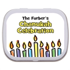 Chanukah Menorah Theme Mint Tin