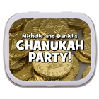 Chanukah Gelt Theme Mint Tin