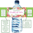 Tropical Flower Water Bottle Label