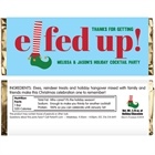 Elfed Up Christmas Party Candy Bar Wrapper