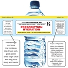 Graduation Prescription Pad Theme Water Bottle Label