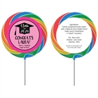 Graduation Cap Pink Theme Lollipop