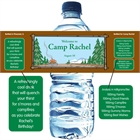 Camp Theme Water Bottle Label