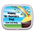 St. Patrick's Day Gold & Rainbow Theme Mint Tin