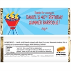 Barbecue Theme Candy Bar Wrapper