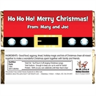 Christmas Santa Suit Theme Candy Bar Wrapper