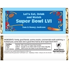 Football Plays Theme Candy Bar Wrapper