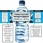 Graduation Caps Theme Water Bottle Label