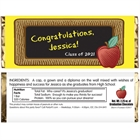 Graduation Party Blackboard Theme Candy Bar Wrapper