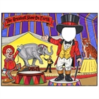 Circus Party Semi Custom Caricature Invitation