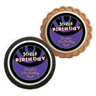 Birthday Swirls Theme Custom Cookie