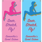 Colorful Gymnastics Theme Vertical Banner
