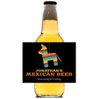 Pinata Theme Fiesta Beer Bottle Label