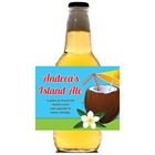 Luau Tropical Drink Party Beer Bottle Label