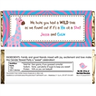 Jungle Theme Gender Reveal Candy Bar Wrapper
