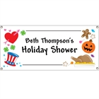 Bridal Shower Holiday Theme Banner
