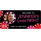 Casino Poker Chips For Her Photo Banner