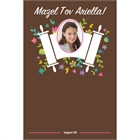 Bat Mitzvah Torah Flowers Sign In Board