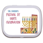 Hanukkah Symbols Theme Mint Tin