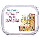 Hanukkah Symbols Theme Mint Tin