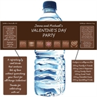 Valentine's Day Chocolates Water Bottle Label