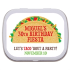 Taco Party Fiesta Theme Mint Tin