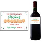 Christmas Cookie Exchange Wine Bottle Label