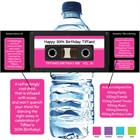 Mix Tape Theme Water Bottle Label