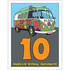 Hippie Bus Table Number