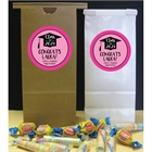 Graduation Cap Pink Theme Party Favor Bag