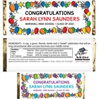 Graduation Balloons Theme Candy Bar Wrapper