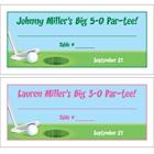Golf Theme Seating Card