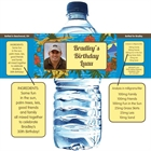 Hawaiian Shirt Water Bottle Label