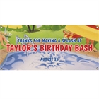 Pool Party Theme Banner