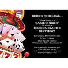 Casino Games Invitation