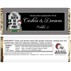 Halloween Tombstone Wedding Candy Bar Wrapper