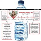 Nursing and Medical School Graduation EKG Water Bottle Label
