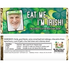 St. Patrick's Day Green Shamrocks Theme Candy Bar Wrapper