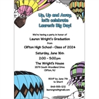 Graduation Up Up and Away Invitation