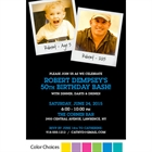 Birthday Polaroid Photo Theme Invitation