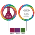 Wine Theme Shower Custom Lollipop