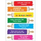 Birthday Paint Party Invitation