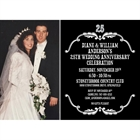 25th Anniversary Vintage Photo Invitation