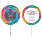 Football Theme Gender Reveal Lollipop