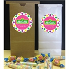 Birthday Sesame Street Pink Theme Party Favor Bag