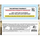 Prescription to Party Theme Candy Bar Wrapper