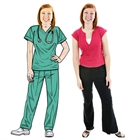 Nurse in Scrubs Lifesized Cutout