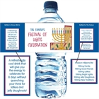 Hanukkah Symbols Water Bottle Label