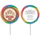 Western Super Bowl Theme Custom Lollipop